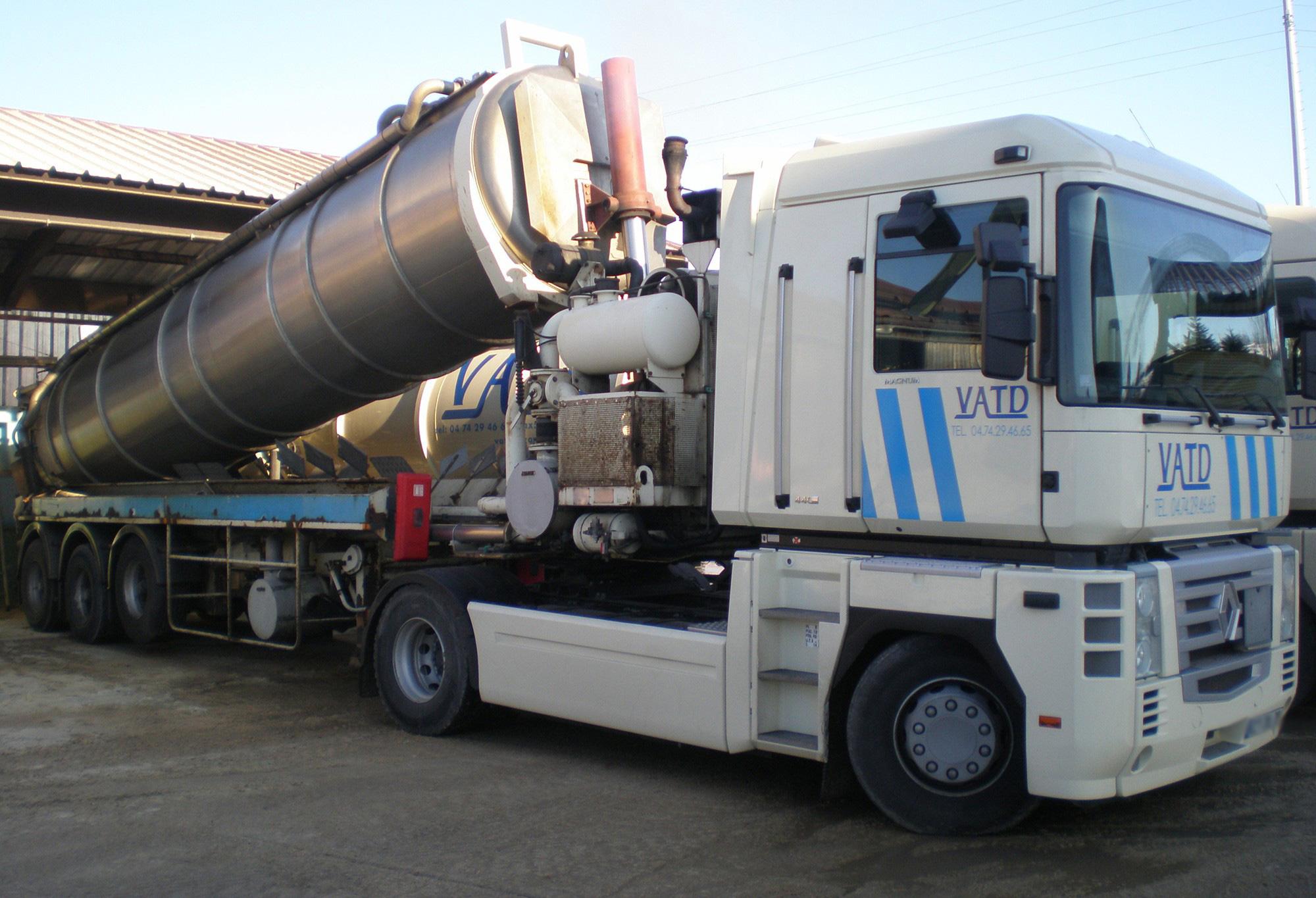transport de déchets ADR boueux VATD