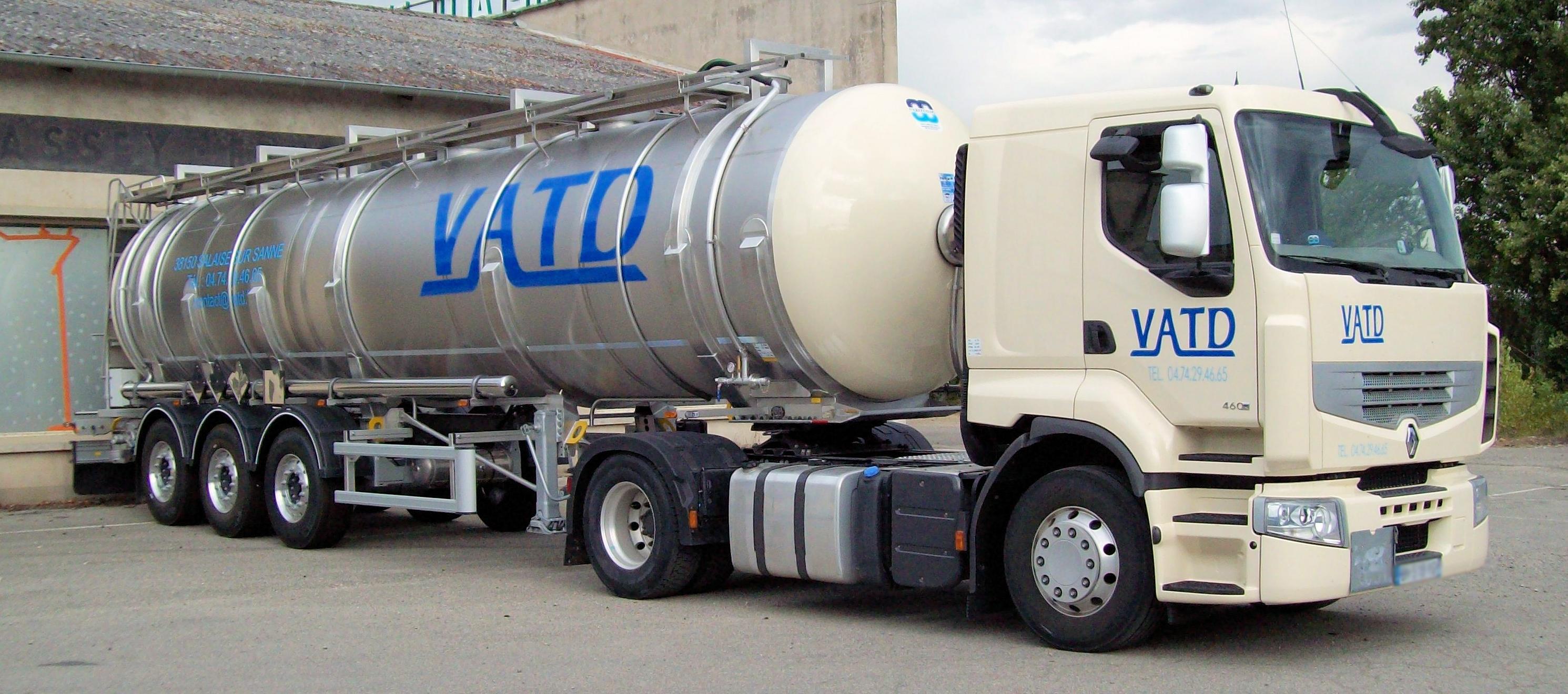 Transport déchets dangereux liquides VATD