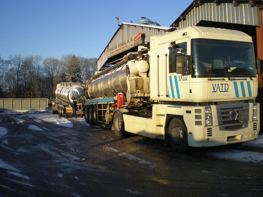 Transport déchets dangereux nettoyage industriel VATD