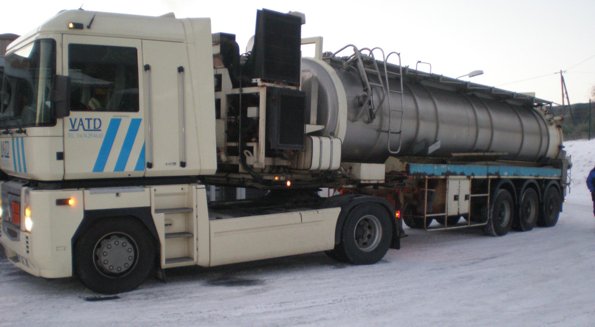 transports déchets industriels boueux VATD
