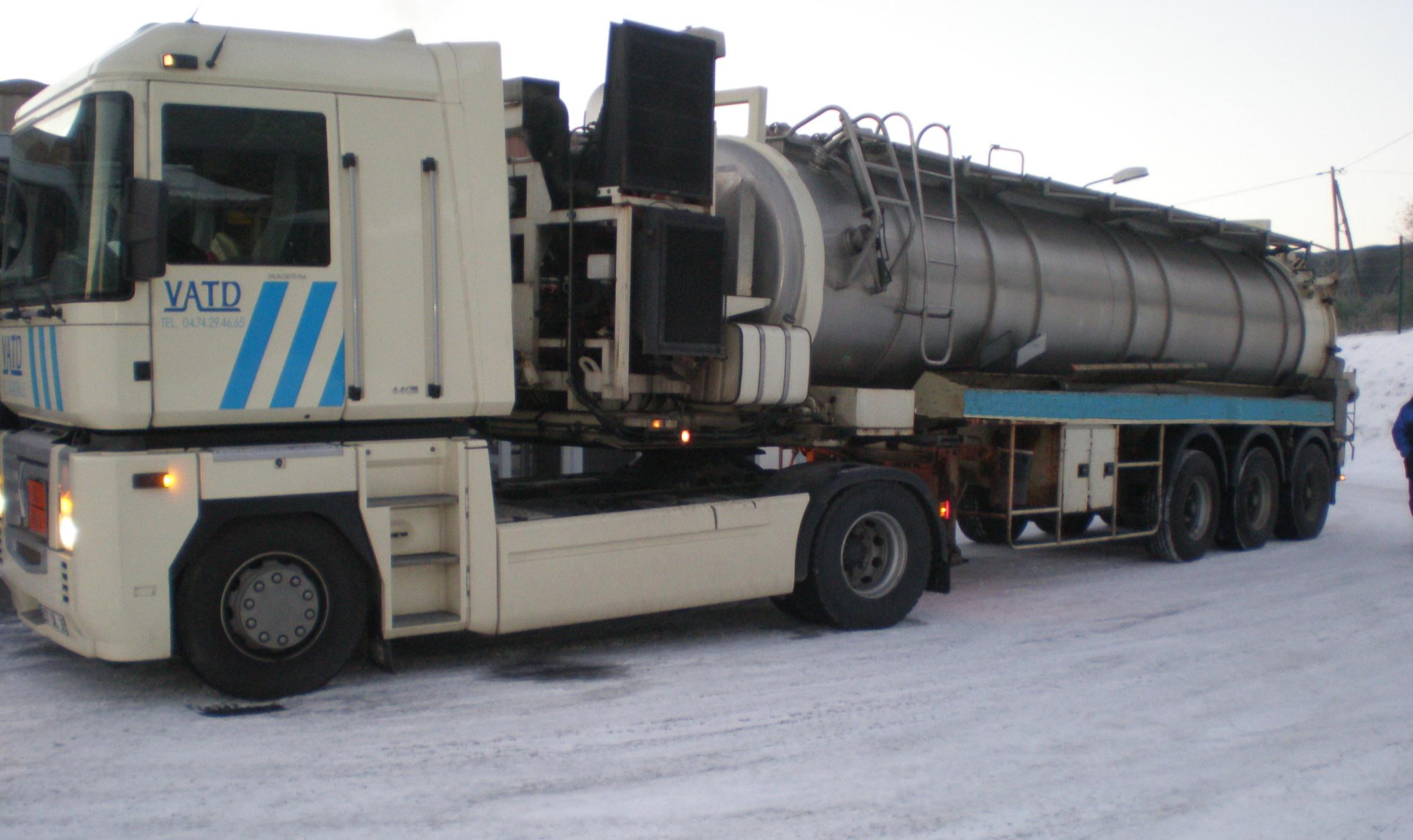Transport déchets boueux VATD